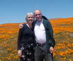 Alan and Marge at the California Poppy Reserve